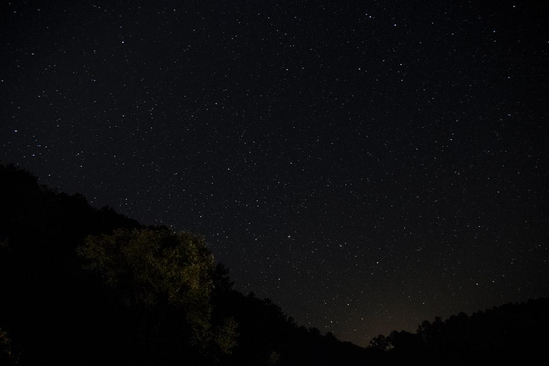 A person in a dark sky